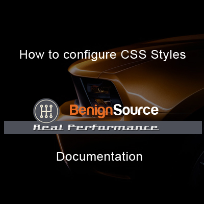 How to configure CSS Styles