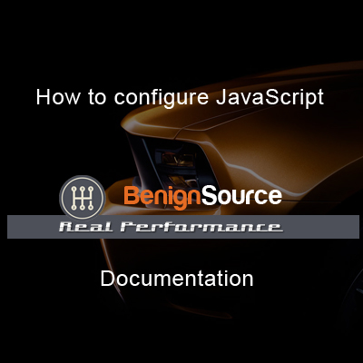 How to configure JavaScript