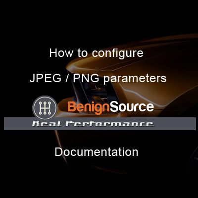 How to configure JPEG / PNG parameters