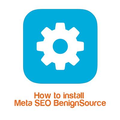 How to install Meta SEO BenignSource