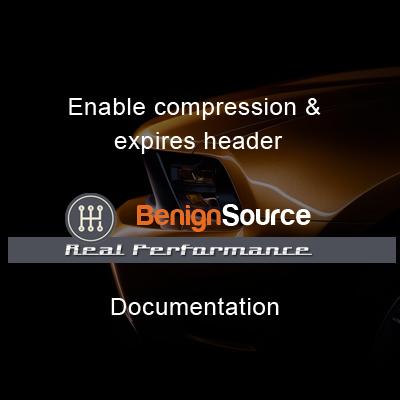 Enable compression & expires header